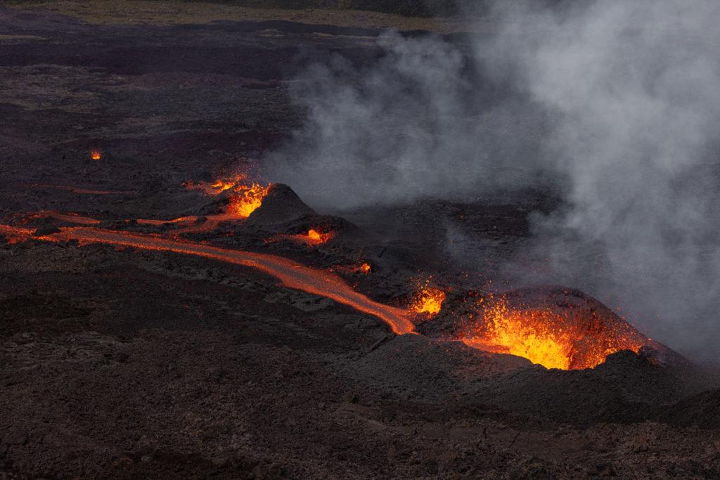 Der erste Vulkanausbruch des Jahres