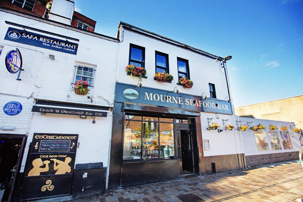 Eine der besten Adressen für Gerichte aus dem Meer: die Mourne Seafood Bar